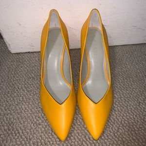 1. State saffy yellow pointed toe heels